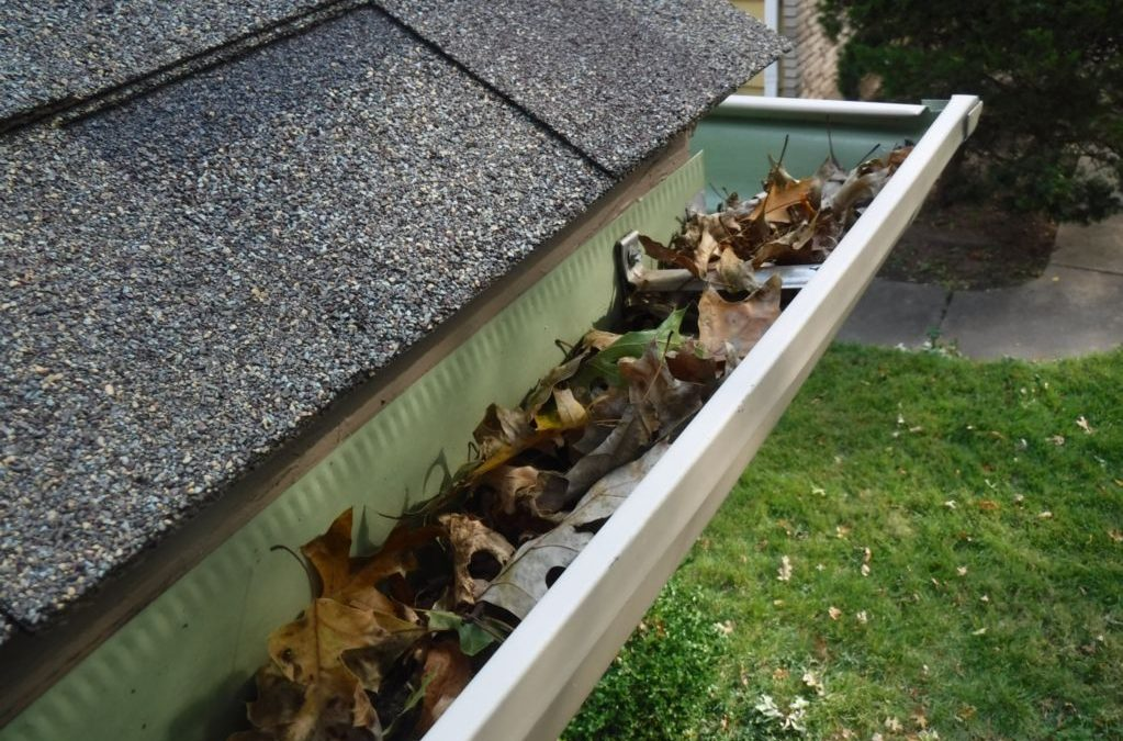 Dirty gutters need to be cleaned